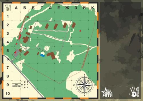 Карта полигона